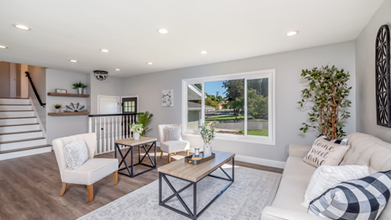 Living space designed by East Point Home Improvement